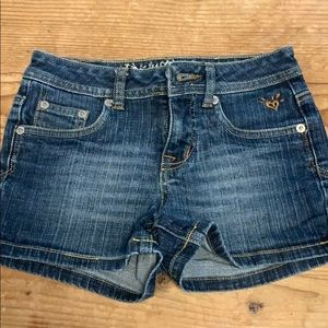 Justice Girls Denim Shorts Sz 10S